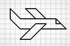 Графический диктант по клеточкам самолет