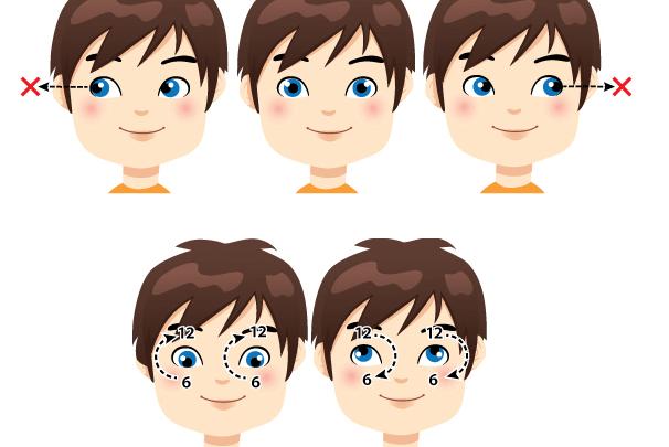 Круговые движения глаз