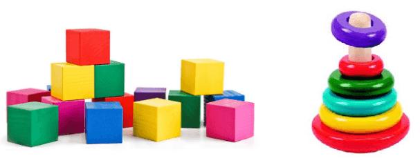 Кубики и пирамидка