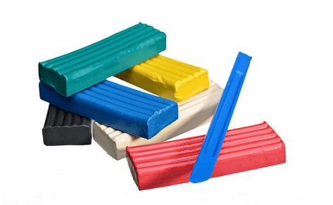 Использование кусков для лепки фигур