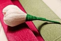 Этапы склеивания цветка