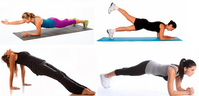 Пункты выполнения упражнений