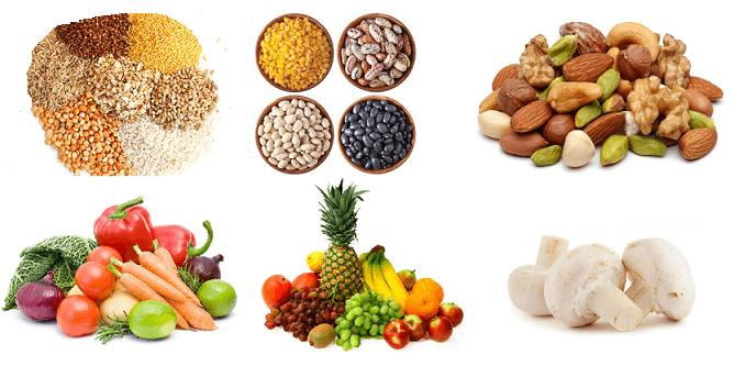 Набор полезных продуктов питания